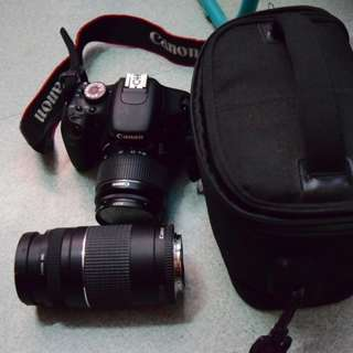 Canon EOS 600D with Original Canon 18-55mm & Original Canon 75-300mm