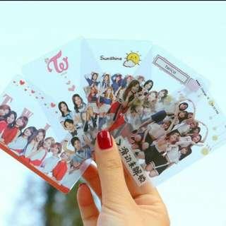 Twice transparent card