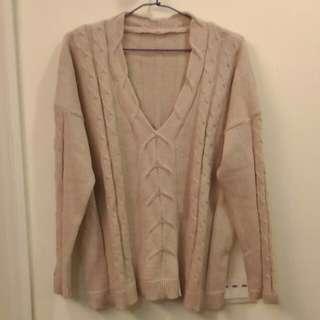 🚚 羊毛麻花針織毛衣