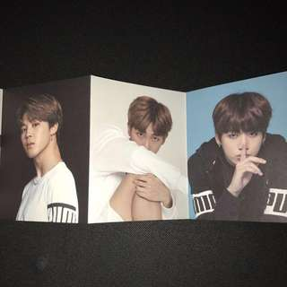 BTSxPUMA photocards
