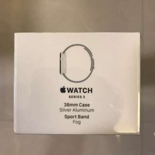 Apple Watch Series 3 38mm Silver Aluminum Fog Sports Band