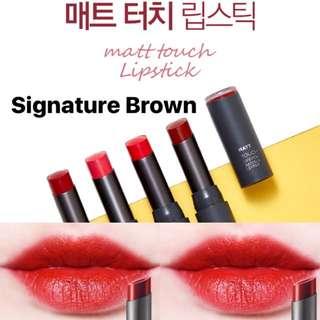 The Face Shop Matte Touch Lipstick #Signature Brown