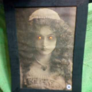 Battery operated MOVING wall frame with Horror SOUNDS LIGHTS