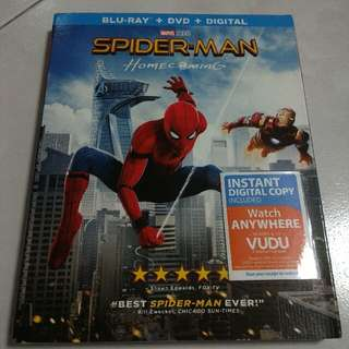 Spiderman Homecoming Bluray/DVD
