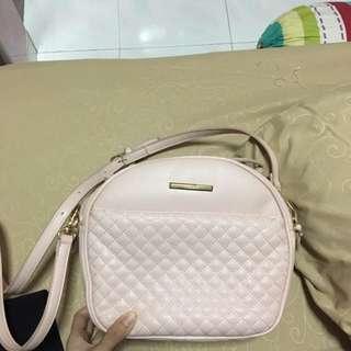 Nude pink handbag