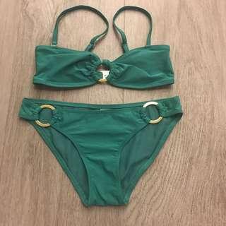 Topshop Green 2-pc. Set Bikini (S)