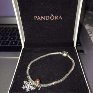 PANDORA Heart Clasp Bracelet and Charms