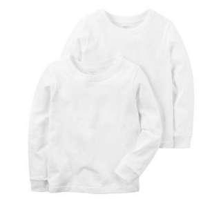 BNIB Carter's 2pc cotton white undershirt set for age 6-7