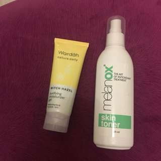 moisturizer wardah hazel terbaru dan toner spray melanox