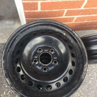 "Four Steel rims 15"" for sale"
