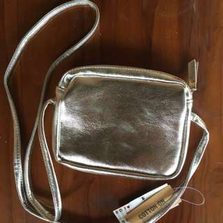[NEW] Cotton-On silver sling bag