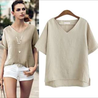 Oatmeal slouch top