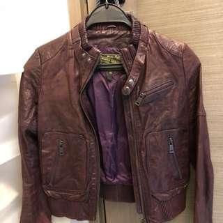 Blue Heroes Biker Jacket - 100% leather