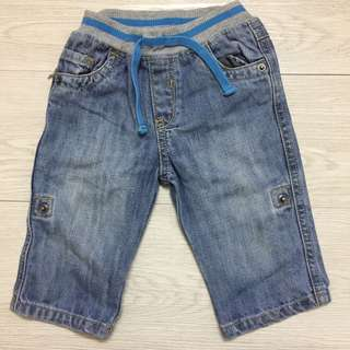 Mothercare 2 in 1 baby boy pull up jeans