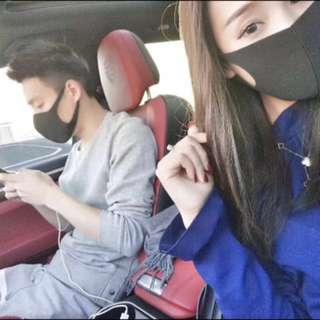 日本 黑口罩 一包三個