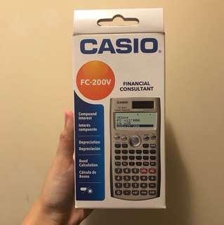 Casio financial consultant calculator FC200V