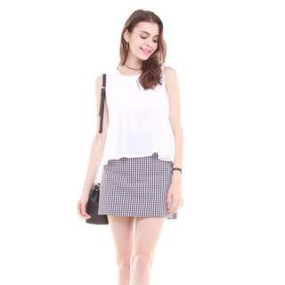 ACW BABYDOLL FLARE TOP IN WHITE (BNIP)