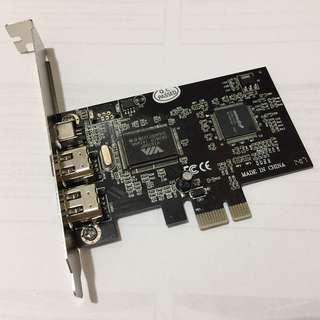 IEEE1394 Card  PCI-E firewire 火線卡