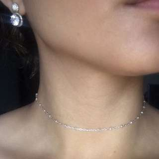 Sterling Silver Ball Chain Choker/Necklace