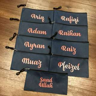 Christmas - Customised Canvas Pencil Cases