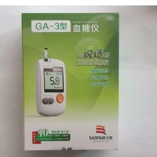 🚚 三諾GA-3型血糖儀機加五十針,試紙