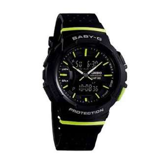 Casio Baby-g; Ga-240-4a2 Watch Black Green