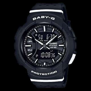 Casio BABY G BGA-240-4A2 Watch BLACK WHITE