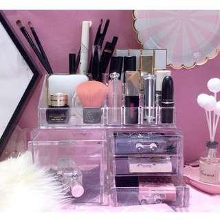 ɴᴇᴡ 12 / 15✨ ░ LIZDASHOP / 亞克力透明多格收納盒梳妝台化妝品儲物盒辦公室桌面塑料整理盒 #10102