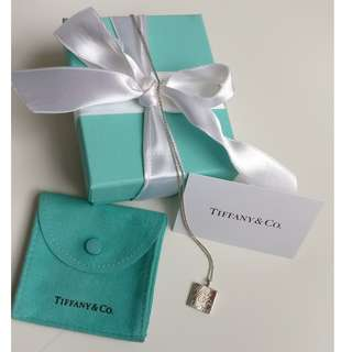 Tiffany & Co. Square Notes New York Pendant Necklace