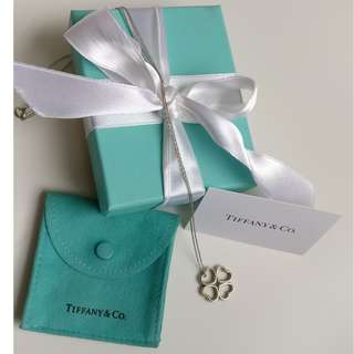 Tiffany & Co. Four Open Hearts Lucky Clover Necklace