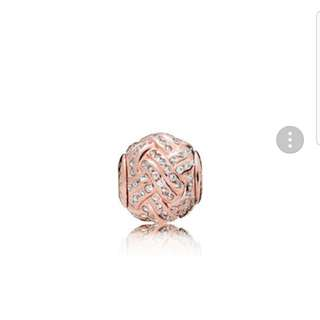 Pandora essence rose gold charm