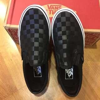 VANS❤️黑色棋盤格 懶人鞋 帆布鞋