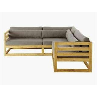 MCI - Custom Sectional Wooden Sofa