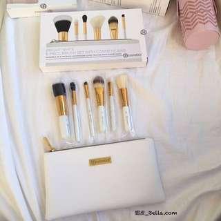 🚚 美國代購🇺🇸 BH COSMETICS 白色刷具組 付化妝包 刷具包 刷具 化妝刷子 六件組 6件組 禮物
