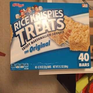 Kellogg's Rice Krispies Treat  40 packs Original flavor / Christmas gift