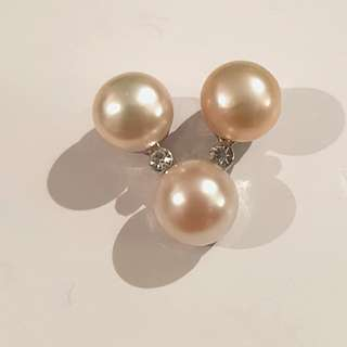 New Pearl pendant peach