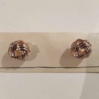 New Rose gold copper stud earrings