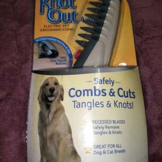 Brand New Sealed Knot Out Electric Pet Grooming Comb