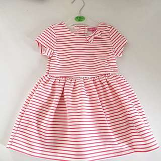 Primark baby girl stripe bell dress
