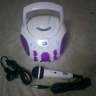 CD karaoke Boombox Portable Amplifier 220v/12v from New Zealand