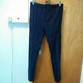Rococo藍黑彈性leggings