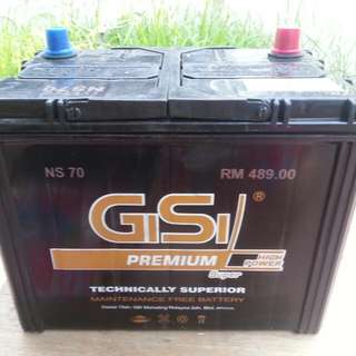 NS 70 maintainance free car battery with warranty