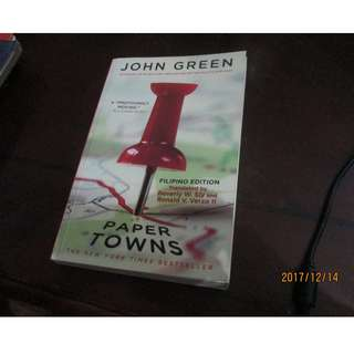 Paper Towns By John Green (Filipino Edition)