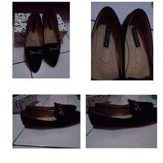 Flatshoes Mandy Point Black