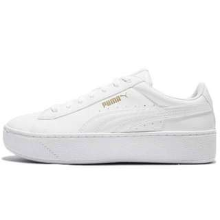 Adidas Platform White Leather Women Shoes Sneakers
