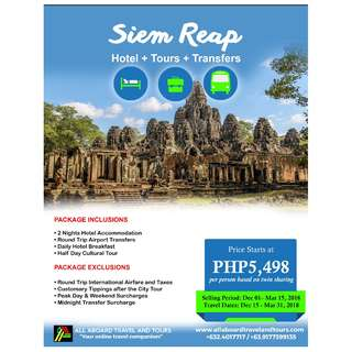 Siem Reap Free and Easy 3D2N Tour