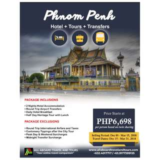 Phnom Penh Free and Easy 3D2N Tour