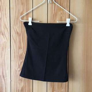Black strapless top