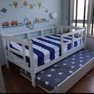Kids Haven Super single & trundle bed frame