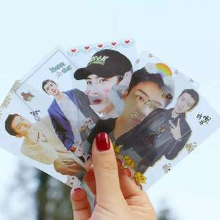 EXO SEHUN TRANSPARENT CARDS